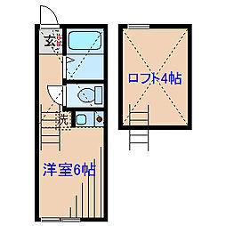 ユナイト妙蓮寺 カグラコート[2階]の間取り