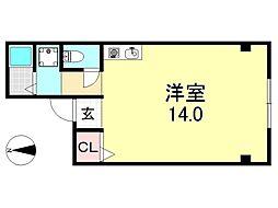 UNIBOXビル[2O1号室号室]の間取り