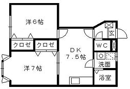 ライズ[1階]の間取り