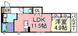シャーメゾンルミエール[3階]の間取り