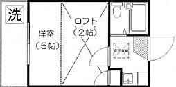 東京都杉並区下井草1丁目の賃貸アパートの間取り