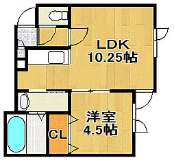 Aqris[2階]の間取り