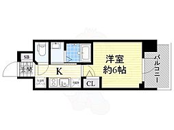 Osaka Metro御堂筋線 西中島南方駅 徒歩11分の賃貸マンション 9階1Kの間取り