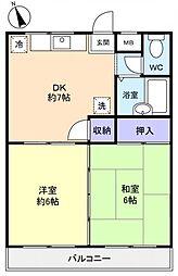 エクレールI[2階]の間取り