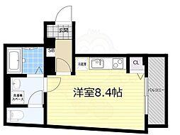 京成押上線 青砥駅 徒歩1分の賃貸マンション 2階ワンルームの間取り