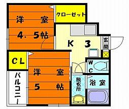 コンフォートベネフィス千早駅東II[1階]の間取り