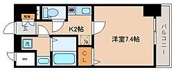兵庫県神戸市兵庫区本町1丁目の賃貸マンションの間取り