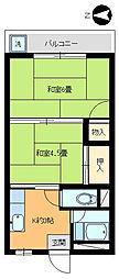 嶋村コーポ[302号室]の間取り