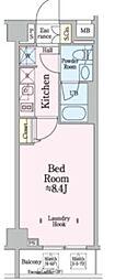 都営浅草線 本所吾妻橋駅 徒歩9分の賃貸マンション 2階1Kの間取り