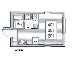 the EKO(ザ エコ)[4階]の間取り