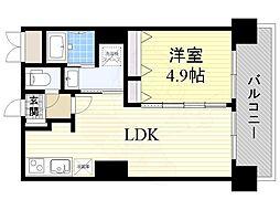 Osaka Metro御堂筋線 新大阪駅 徒歩9分の賃貸マンション 14階1LDKの間取り