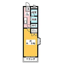 ラ・フォーレJUN[1階]の間取り