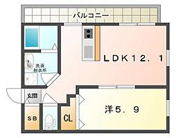 KTIレジデンス西三荘[2階]の間取り