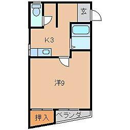 井口アパートII[2階]の間取り
