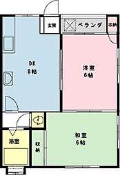 千葉県市川市新井1の賃貸アパートの間取り