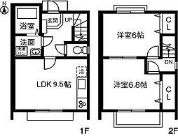 [テラスハウス] 愛知県春日井市柏原町5丁目 の賃貸【/】の間取り