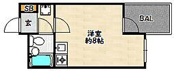 兵庫県神戸市兵庫区駅前通5丁目の賃貸マンションの間取り