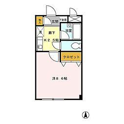 アクシス東小金井[201号室号室]の間取り