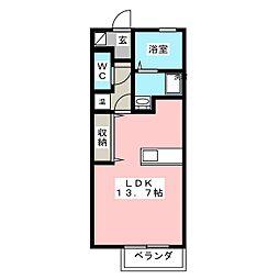 ルミナス有松[2階]の間取り
