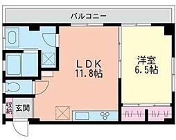 神奈川県横浜市中区常盤町2丁目の賃貸マンションの間取り