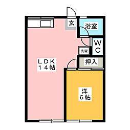 シティハイムゴノヘ[1階]の間取り