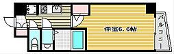 セレニテ谷四 8階1Kの間取り