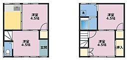 [一戸建] 神奈川県横浜市鶴見区小野町 の賃貸【/】の間取り