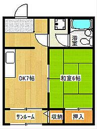 オレンジハウス八尾壱番館[502号室]の間取り