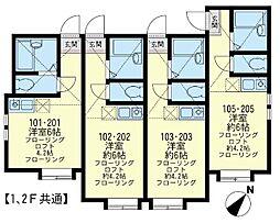 ユナイト小田栄 サンモリッツの杜[2階]の間取り