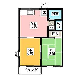 タウニー竹鼻[2階]の間取り