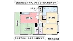 フォブール原田 A棟[1階]の間取り