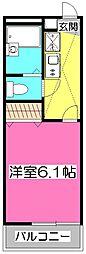 埼玉県所沢市東所沢1丁目の賃貸アパートの間取り