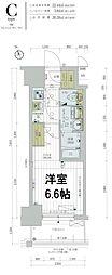 レジュールアッシュTAISHO LEGANT 11階1Kの間取り