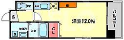 Kaunis都島 6階ワンルームの間取り