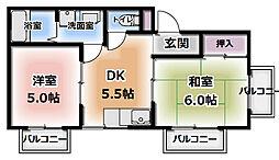 コスモ柳町マンション[301号室]の間取り