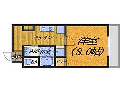 鳳TKハイツ2号館[1階]の間取り
