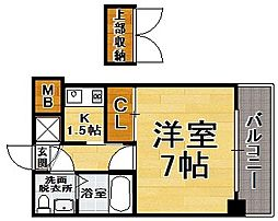 福岡県福岡市中央区平尾2の賃貸マンションの間取り