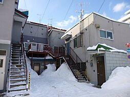 北海道小樽市山田町の賃貸アパートの外観