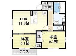 深井駅 7.4万円