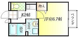 セジュールシャトレー A棟[1階]の間取り