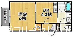 Aレガート竹下駅前I[1階]の間取り