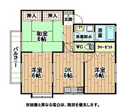 福岡県北九州市門司区大字吉志の賃貸アパートの間取り