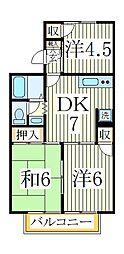 ストークタウンB[2階]の間取り