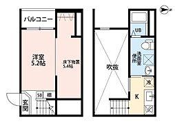 愛知県名古屋市中川区十一番町4丁目の賃貸アパートの間取り