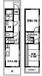 [一戸建] 神奈川県相模原市中央区氷川町 の賃貸【/】の間取り