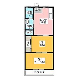 メゾン大坪[3階]の間取り