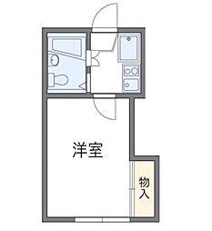 神奈川県横浜市泉区下和泉5丁目の賃貸アパートの間取り