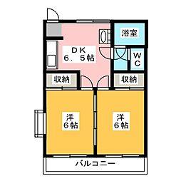 華蔵寺マンション[4階]の間取り