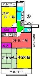 ロイヤルグリーン八千代5号棟[3階]の間取り