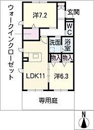 柊鈴庵[2階]の間取り